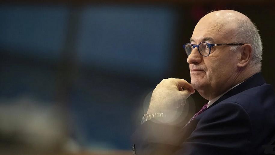Phil Hogan, le commissaire européen au Commerce, plaide pour une «autonomie stratégique ouverte». (Virginia Mayo/AP/Sipa)