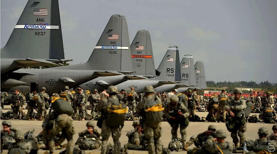 La base aérienne de Ramstein en Allemagne est un point de déploiement de puissance essentiel pour les Etats-Unis. La diminution des forces américaines stationnées en Allemagne annoncées par Donald Trump porte un nouveau coup à l'Otan. (SIPA USA/SIPAUSA/SIPA)